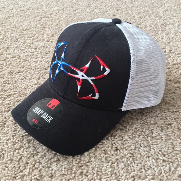 87b1c5a0441 NEW Under Armour Fish Hook mesh snapback cap hat